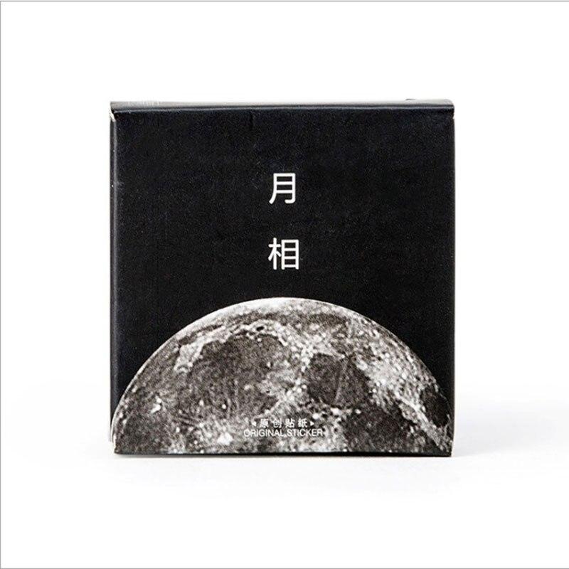 Купить с кэшбэком 45 Pcs/box moon style Mini Paper Decoration DIY Scrapbook Notebook Album seal Sticker Stationery Kawaii Girl Sticker