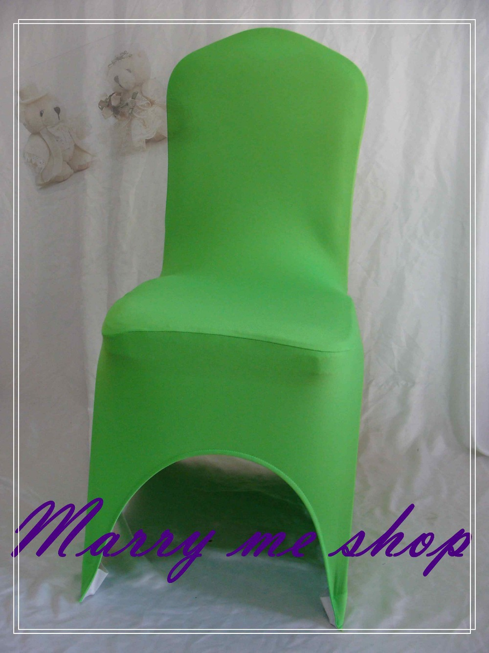 wedding chair covers for round cushions 14 inch 100 emerald green spandex sale lycra cover china free shipping