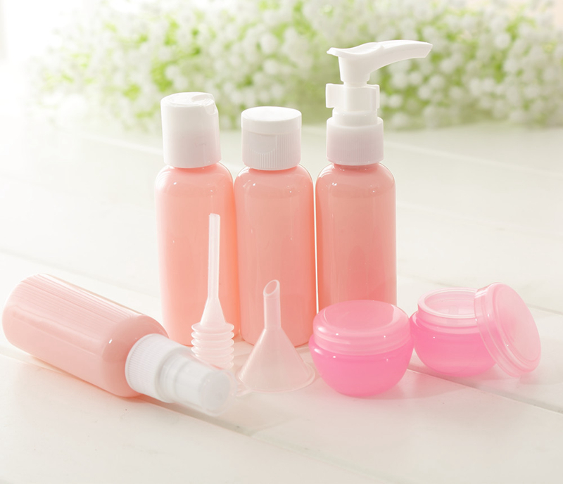 HTB1SIyviyQnBKNjSZFmq6AApVXaj 9PCS Creative Travel Portable Bottle Set for travel home accessories bathroom soap dispenser hand sanitize shower gel shampoo