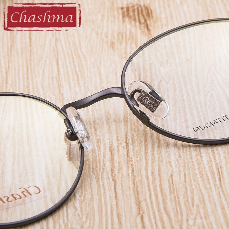 41f83ca4e4 Chashma redonda de titanio gafas óptica Vintage espectáculo marcos ...