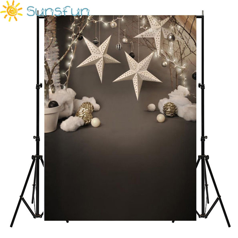 Sunsfun Vinyl Photography Background Christmas Star Computer Printed Custom children Photography Backdrops for Photo Studio 10x10ft vinyl custom digital photography background children photography backdrops j 7372