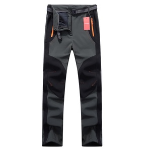 Image 2 - 2020 New Winter Men Women Hiking Pants Outdoor Softshell Trousers Waterproof Windproof Thermal for Camping Ski Climbing RM032