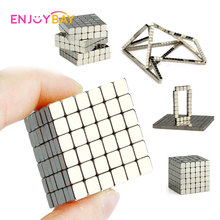 Enjoybay 216pcs Magnetic Magic Cube Toys Mini Magnet Balls Puzzle Metal Beads DIY Assemble Magcube Educational Kids Adults Toy 5mm 216pcs buliding educational cube blocks anxiety stress toys gift new year magnet with metal box disc magnet