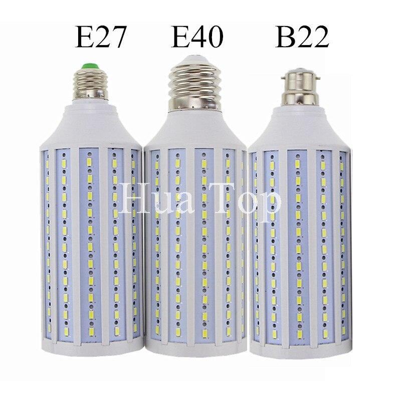 Купить с кэшбэком Lampada Super Bright 50W 60W 80W 100W LED Lamp E27 B22 E40 AC 110V/220V Corn Bulb Pendant Lighting Chandelier Ceiling Spot light