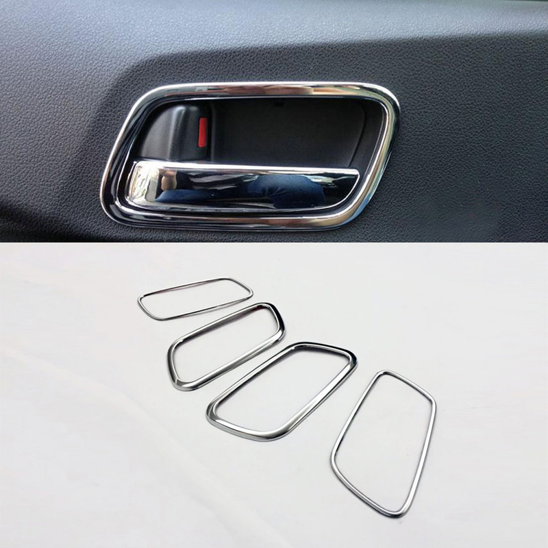 For Honda CRV CR-V 2012 2013 2014 2015 2016 Stainless Steel Car Side Door Handle Bowl Cup Protector Cover Mouldings Cap Trims accessories fit for honda crv cr v 2012 2013 2014 2015 chrome side door body molding trim cover line garnish protector
