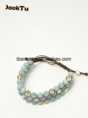 2017 summer 8MM facted amazon beads friendship bracelet christmas gift