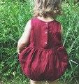Вино красное малышей младенческой комбинезон свободного покроя комбинезоны 73 - 80 - 90 - 100 мода девочка Clothings