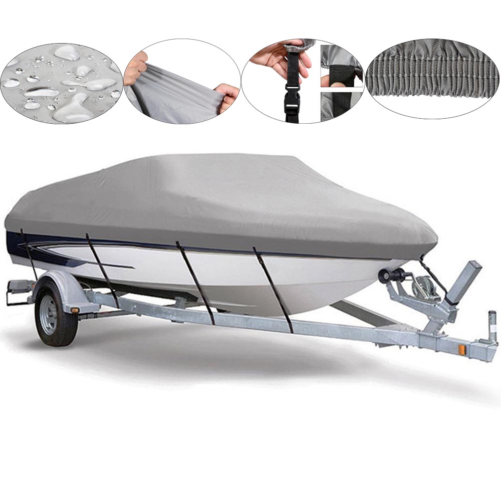 Fishing/Ski/Boat Cover Heavy Duty Trailerable 20 21 22ft 210D Speedboat Waterproof UV protected Boat Cover heavy duty 14 16ft 600d beam 90inch trailerable marine grade boat cover outdoor yacht boat suit waterproof uv protected black