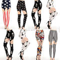 2016 sale european and american style fashion thigh hollow metal clip leggings pants nine points 6 color sexy girl leggings