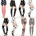 2016 venta de estilo europeo y americano moda muslo hueco de metal clip leggings pantalones nueve puntos 6 color sexy girl leggings