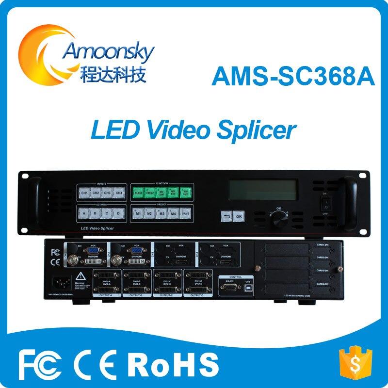 Amoonsky SC368A 8 K LED processeur vidéo Composite A/V, VGA, HDMI, prise en charge USB 2 cartes d'expéditeur nova contrôleur de mur vidéo LED