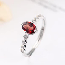 gemstone fine jewelry factory wholesale 925 sterling silver 7mm oval natural red garnet ring for female engagement wedding gift kjjeaxcmy fine jewelry 925 sterling silver natural garnet bracelet for sale manufacturing professional wholesale