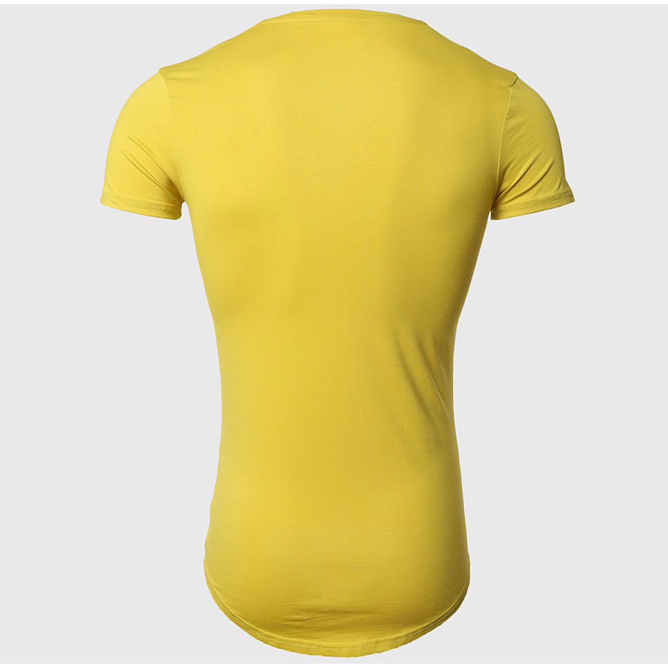 21 Colors Deep V Neck T-Shirt Men Fashion Compression Short Sleeve T Shirt Male Muscle Fitness Tight Summer Top Tees 30