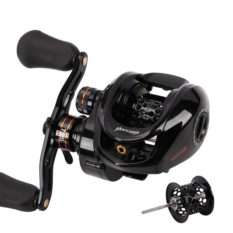 NEW TSURINOYA HE 150 Double Spool Hight Gear ration 6.6:1 Magnetic Drag 4KG 7BB Baitcasting reel Fishing Reel Bait Casting reel