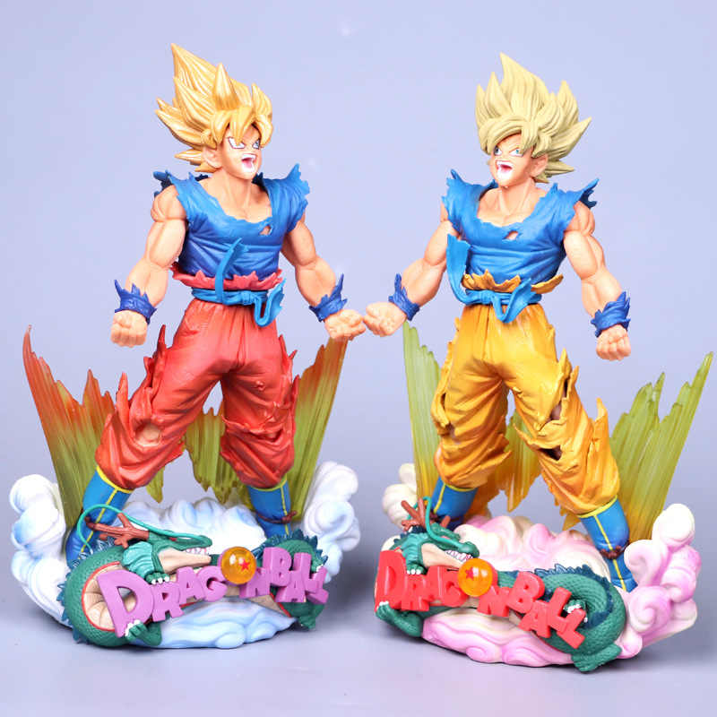 23 cm Figura Dragon Ball Son Goku Figura MSP Super Saiyan O escova Figura DBZ DragonBall Z Dragon Ball Z Figura de Ação DO PVC