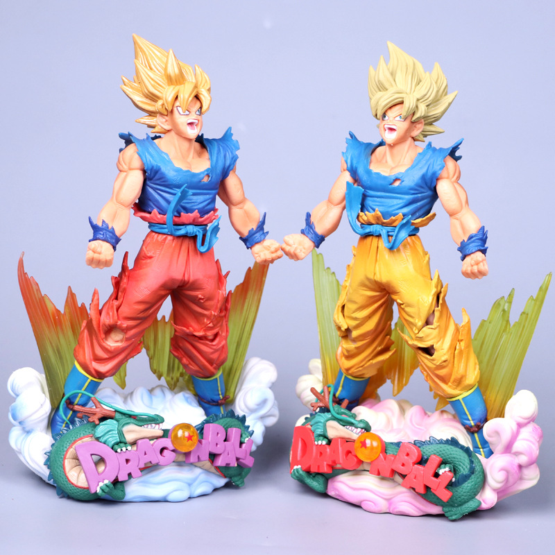 23 cm Dragon Ball Abbildung Goku Figur MSP Super Saiyan Die pinsel Abbildung PVC Dragon Ball Z Action Figure DBZ DragonBall Z