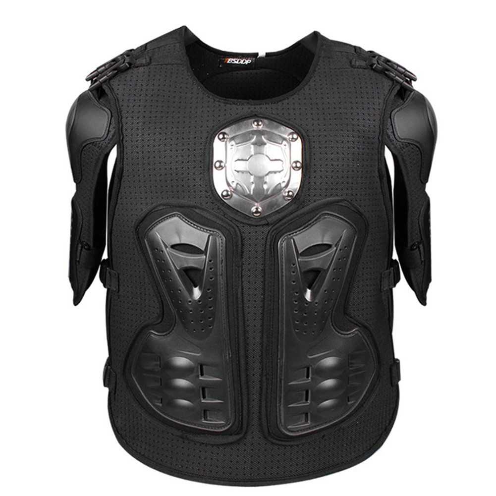 Protective Motorcycle Body Armor Chest Protector Motocross Off Road Back Armour Protection Jacket J0575 Vest Clothing Metal Gear brand new motorcycle armor protector motocross off road chest body armour protection jacket vest clothing protective gear p14