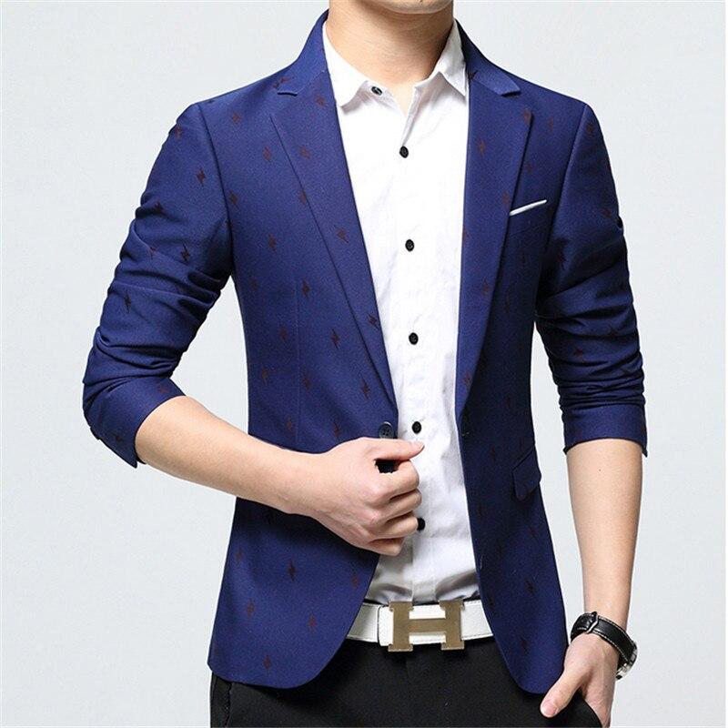 Для мужчин Демисезонный цветочный блейзер бренда Slim Fit Блейзер костюм Новое поступление модные хлопковые платье в деловом стиле костюм Бле