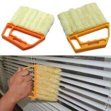 Mini 7 Shape Vertical Window Blinds Brush Cleaner Hand Held Window Brush Novelty Households Cleaning Brushes L1