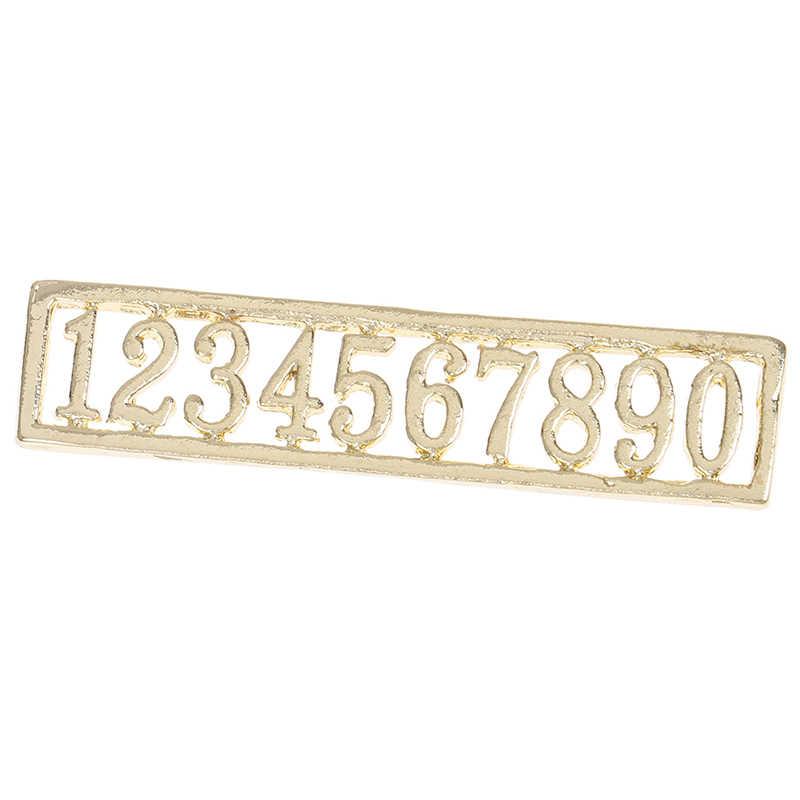 1 قطعة ل 1:12 مقياس دمى منزل مصغرة مجموعة من الأرقام الذهبية الباب الملحقات