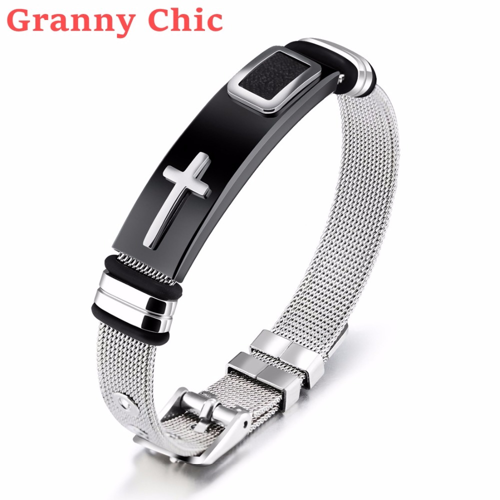 Granny Chic Women Men silver Gold Black Stainless Steel mesh wire ...