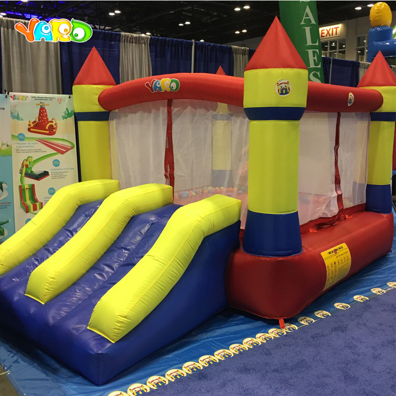 YARD Home Use Mini Inflatable Bouncers Kids Bouncy Castle Outdoor Inflatable Bounce House Sent PE Ocean Balls yard residential inflatable bounce house combo slide bouncy with ball pool for kids amusement