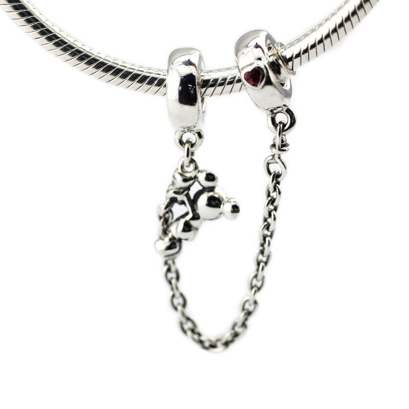 Pandulaso Mère de Jour Escalade Souris Sécurité Chaîne Perles Pour Fabrication De Bijoux en Forme D'origine 925 Argent DIY perle Bracelets Pour femmes