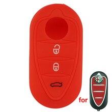 3 кнопки Силикона ключа Автомобиля обложка Чехол Для для Alfa Romeo Mito Giulietta 159 GTA Бланк Брелок Авто запчасти, автомобильные аксессуары