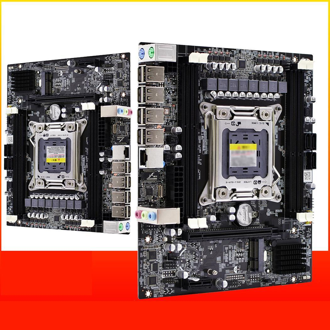 X79F Desktops Motherboard Sata 3.0 Usb Cpu 2011 2xDDR3 DIMM 1pc Computer 4 SATA Cable Channel Gaming Support