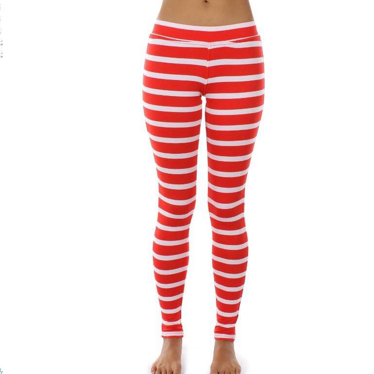 Popular Red White Striped Leggings-Buy Cheap Red White Striped ...