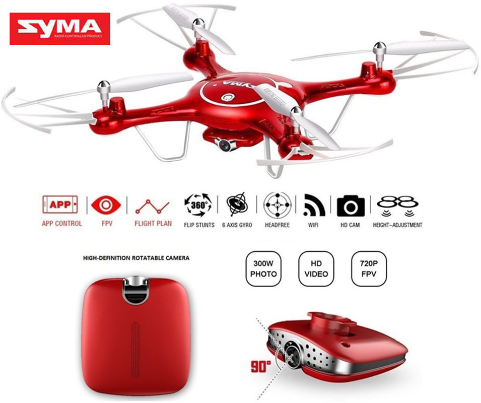 SYMA X5UW Mini Drone With Camera HD 720P WIFI FPV RC Helicopter Elfie Drones Headless 6Axis Uav Quadcopter Dron 3D Flip Toy fpv arf 210mm pure carbon fiber frame naze32 rev6 6 dof 1900kv littlebee 20a 4050 drone with camera dron fpv drones quadcopter