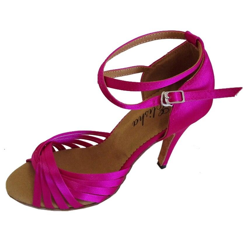 Elisha Dance Shoe Customized Heel Ankle Strap Fushia Women s Latin Salsa  Open Toe Dance Party Shoe-in Dance shoes from Sports   Entertainment on ... 68821efead44