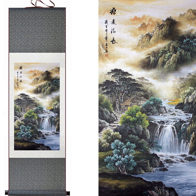 mountain and river painting chinese scroll painting landscape art