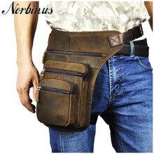 Norbinus мотоциклетная сумка для верховой езды, мужские кожаные поясные сумки из натуральной кожи, мужская сумка-мессенджер, сумка-мессенджер, мужская сумка для бедер, поясная сумка