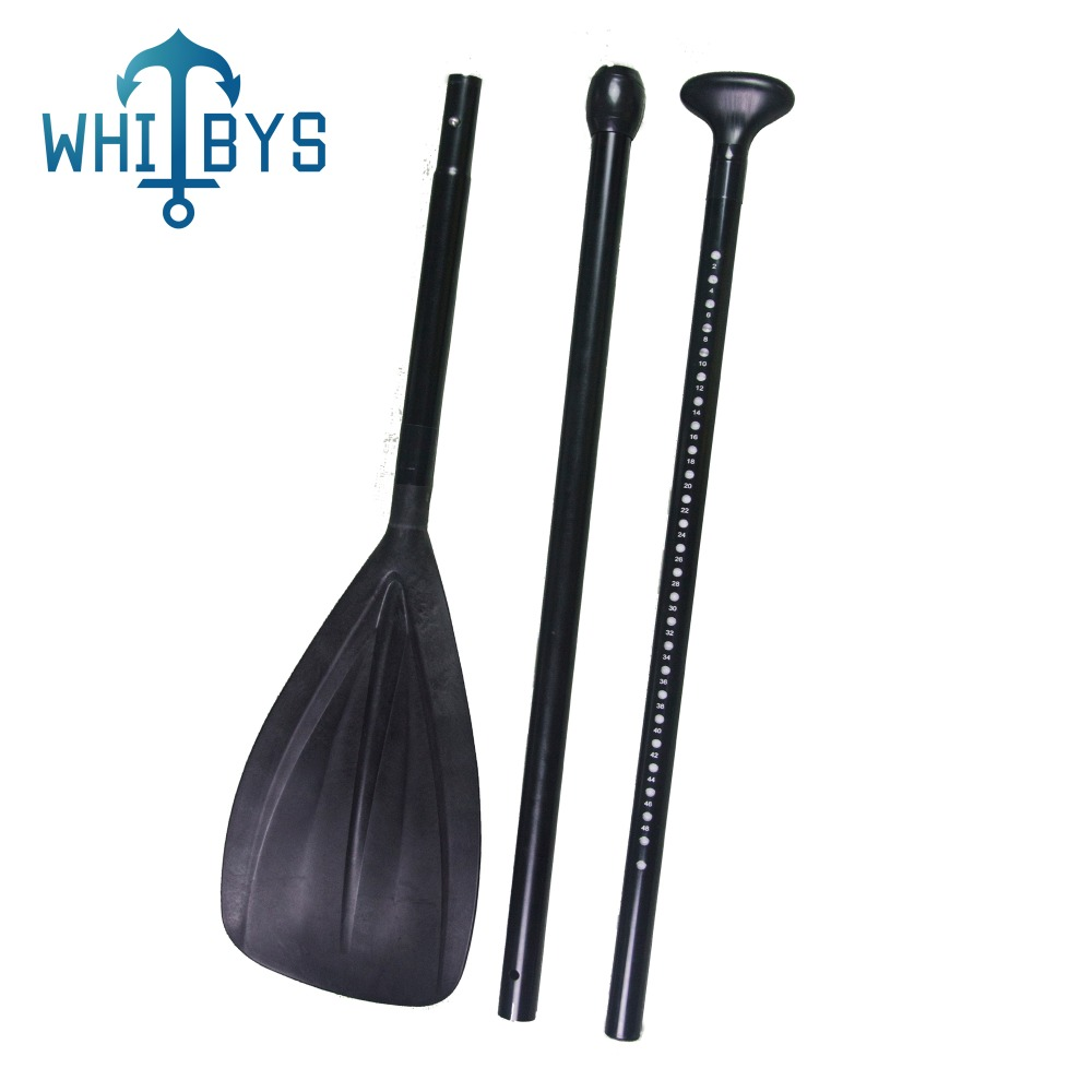 Durable 3 Piece Surfing Sup Paddle With Paddle Bag Adjustable Alloy Shaft & Nylon Blade Black rotary paddle switches for solid adjustable paddle switch