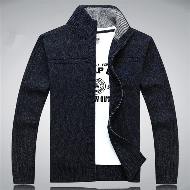 2015 New Winter Autumn Sweaters Men Casual 80% Wool