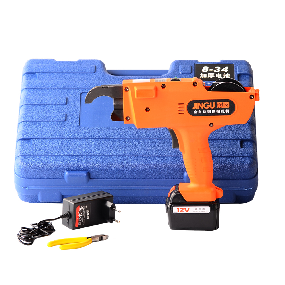 12V Automatic Rebar Tying Machine Rebar tier Binding Machine Wire Knoting Cordless Rechargeable Lithium Battery Electric