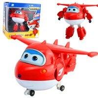 NUEVA Llegada Grande 15 cm ABS Avión Alas Súper Deformación Robot Figuras de Acción Juguetes para Niños Brinquedos Regalo de Transformación