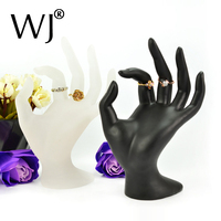 Resin Black and Frosted White Jewelry Display Mannequine Hand Model Form Bracelet Chain Bangle Ring Stand Holder Organizer Case