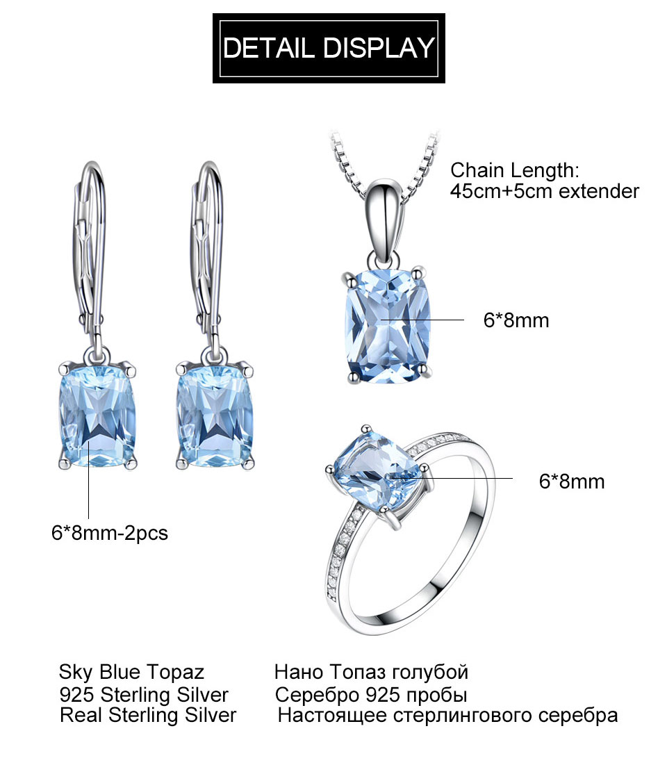Honyy Sky blue topaz silver sterling jewelry sets for women EUJ054B-1-pc (11)