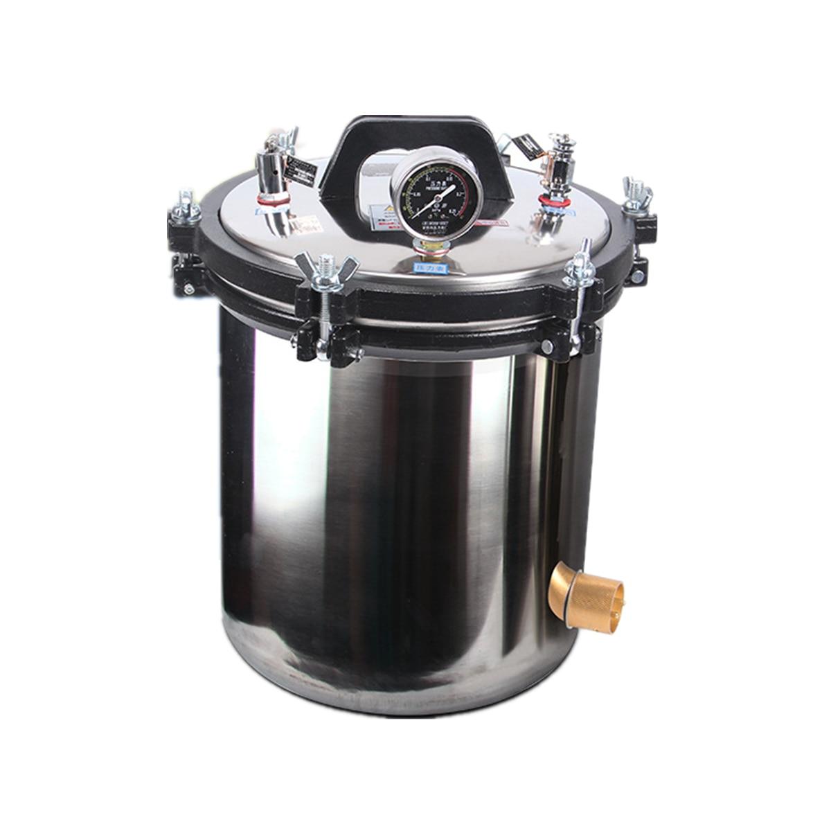 Us 16416 43 Offstainless High Pressure Steam Sterilizer Medical Dental Tattoo Autoclave Sterilization Heavy Cast Aluminum Pressure Cooker 8l In