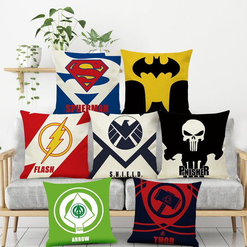 Personalised Children Superhero Pillow Case Printed Gift Custom Made Print Kids