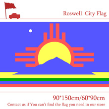 Free shipping 3x5ft Roswell City Flag Of New Mexico State 90*150cm 60*90cm Flag Custom 100d Polyester Banners цена и фото