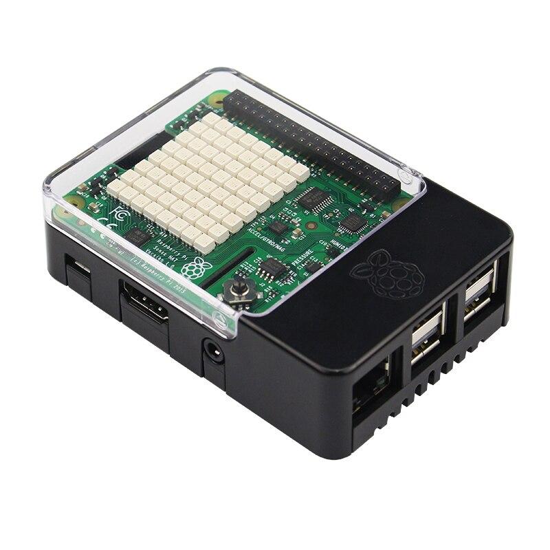 Raspberry Pi 3 Modèle B Sens CHAPEAU Conseil avec L'orientation Pression Humidité et Température Capteurs + ABS Cas pour Framboise pi 3B +