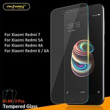 2Pcs Glass Xiaomi Redmi 7 5A 4A Screen Protector Tempered Glass For Xiaomi Redmi 5A Glass Redmi 7 4A Protective Glass Phone Film insurance block 7 5a