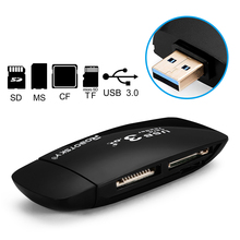 4 in 1 USB 3.0 Memory Card Reader Up to 5Gbps Adapter for SD/TF CF MS Micro SD P