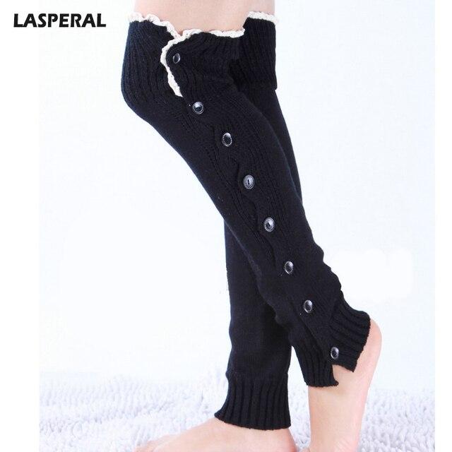 Calcetines tejidos de marca LASPERAL para mujer calentadores de ...