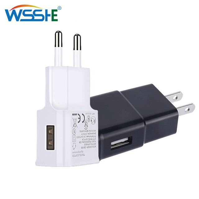 5 V 2.1A USB شاحن آيفون X 8 7 6 باد سريع جدار شاحن الاتحاد الأوروبي محول 5 V 1A لسامسونج s9 شياو mi mi الهاتف المحمول شاحن