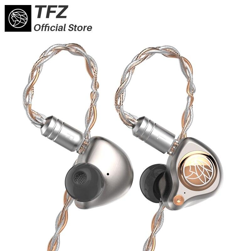 TFZ/RE LTD Hifi Auricolari, 8-core Silver-plated cavo, neckband HIFI Bass Noise Su Misura Dinamico Auricolare per iphone