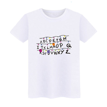 Stranger Things Christmas Lights Tshirt 26 Letter Casual Women Or Man Top(China)